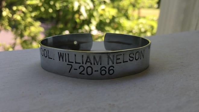 Sue Boom's POW/MIA bracelet