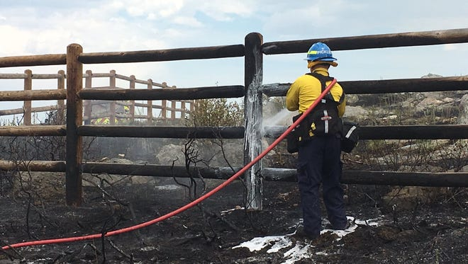 The Stag Hollow Fire burned about 4.7 acres south of Horsetooth Reservoir on Monday.