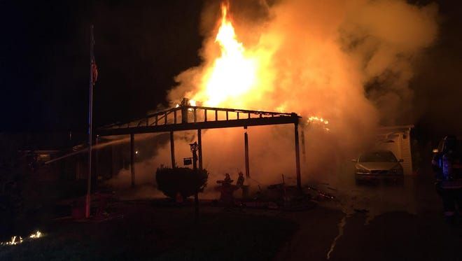 A house fire in the Town of Poughkeepsie early Saturday morning.
