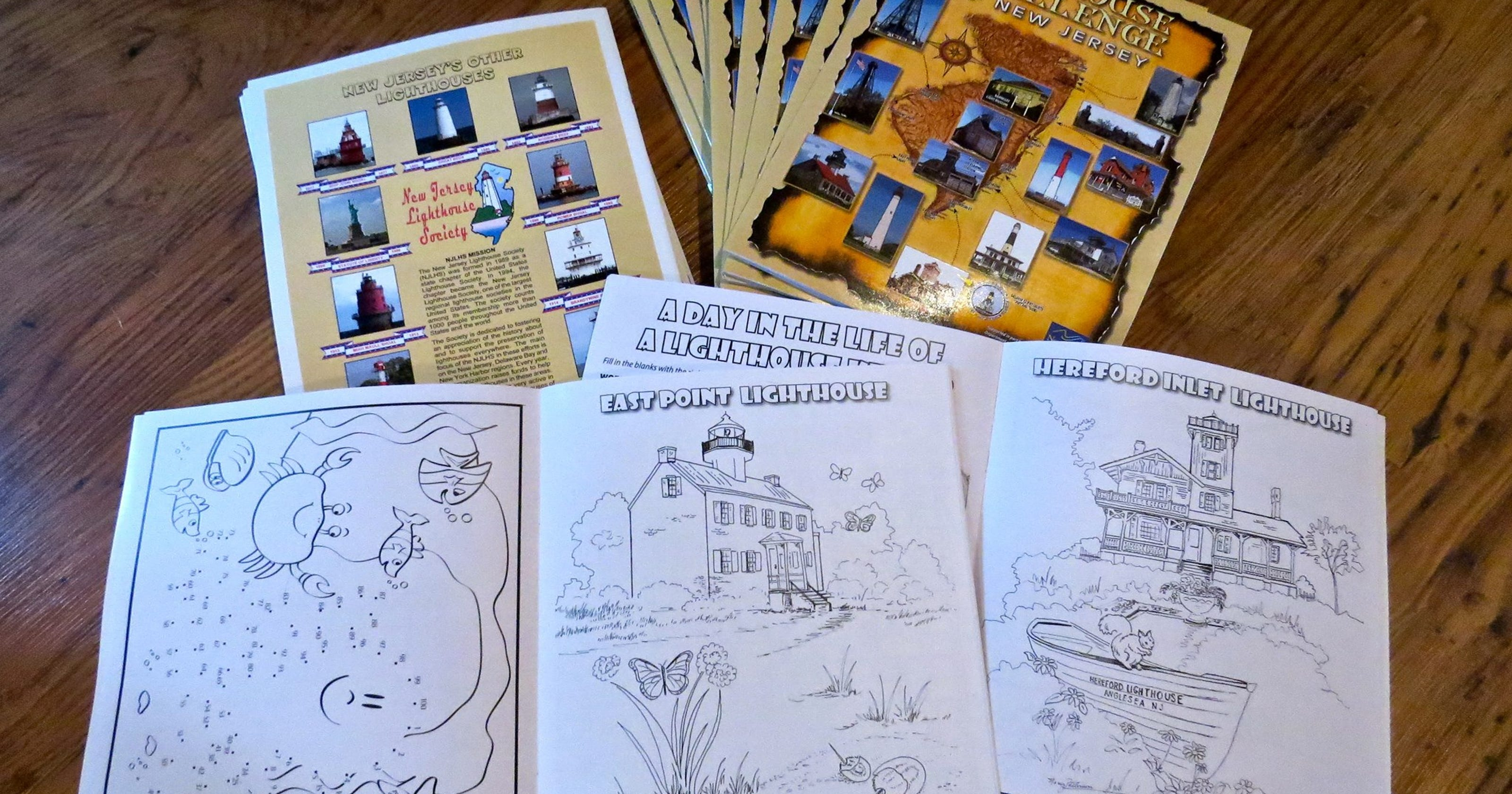 New coloring book available during Lighthouse Challenge