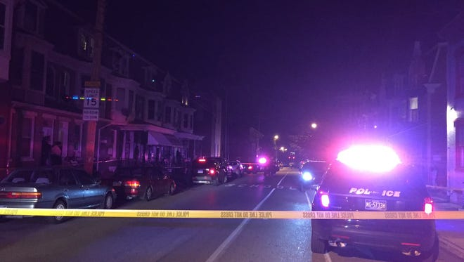 Police responded to a report of a shooting in the 400 block of West King Street in York Monday night. The York County Corner was called to the scene.