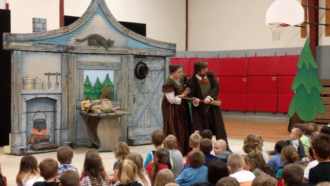 Portland Opera visited Turner Elementary School on Wednesday, Oct. 5. The big-city thespians read with some of the younger kids in the morning before presenting Hansel & Gretal in the school's gymnasium.
