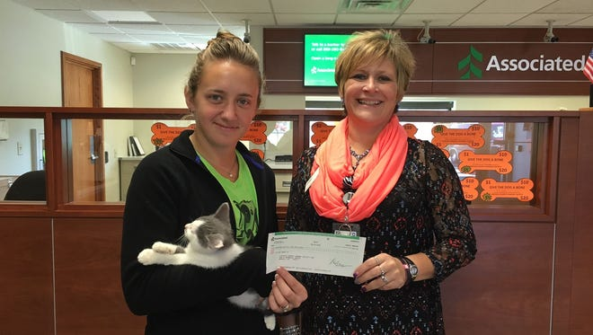 The Lincoln County Humane Society would like to thank Leah and all the employees of Associated Bank in Merrill for their recent $500 donation. The employees of Associated Bank submitted their volunteer time for the chance to win $1,000 charity incentive to be donated to the charity of their choice.