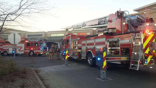 Crews respond to a fire at Tokyo Japanese Restaurant on S. Louise Avenue.