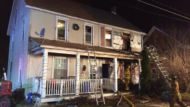 Crews responded to a fire at a home in New Freedom Sunday night.