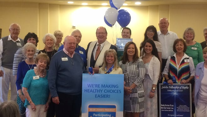 Jubilee Fellowship members celebrate receiving Blue Zones Project recognition in November