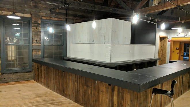 The recently finished back bar at the Silver Lake Brewing Project in Perry, Wyoming County.