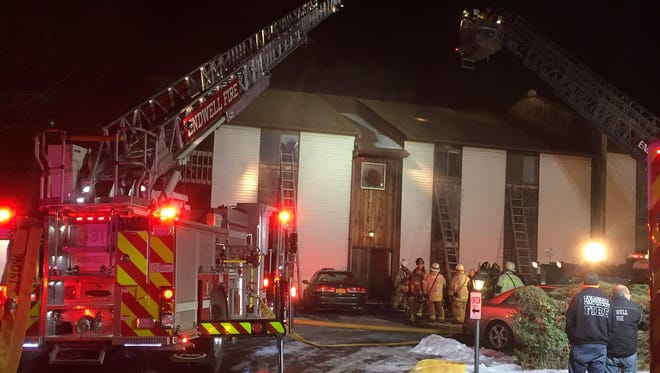 Multiple fire crews responded to a fire at 2608 Watson Blvd., in Endwell.