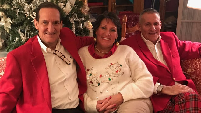 A Wright Christmas Siblings Chris Wright, Ann Wright Tornatta and Robert Wright were snapped visiting at Richard Curby and Collynn Pearl's annual Christmas party.