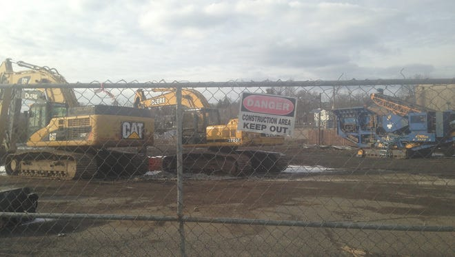 The site of the former Landmark catering business on Route 17 has been demolished to make way for a proposed 96,569 square foot self service storage facility.