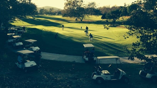 Players participate in The Bunker Golf Center's Final 9 Golf Tournament at Camarillo Springs Golf Course in 2014.