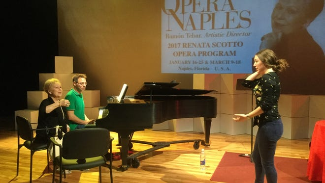 Renata Scotto, left, coaches Mika Estrin, one of her first student, in a recitative.