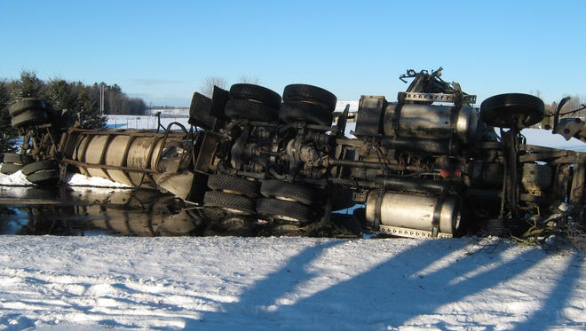 A 58-year-old Reedsville  man was seriously injured after the semi-trailer he was driving collided with a piece of farm equipment at about 8 a.m. Feb. 1 on Manitowoc County T near Polifka Road.