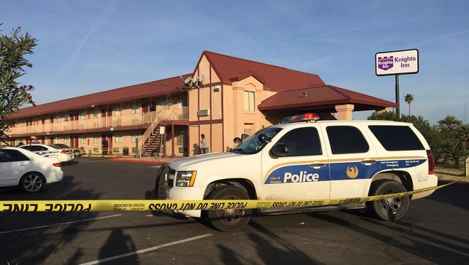Phoenix police say a man was shot at the Knights Inn off Interstate 17 and McDowell Road on Feb. 2, 2017. Police believe the gunshot victim and shooter knew each other.
