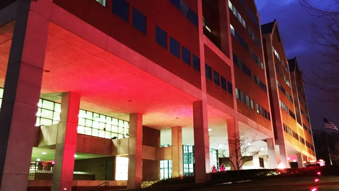 "HackensackUMC Mountainside hospital will ""glow"" red in honor of American Heart Month."