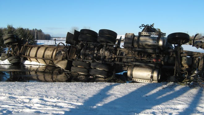 A 58-year-old Reedsville man was seriously injured after the semitrailer he was driving collided with a piece of farm equipment on Feb. 1 on County T near Polifka Road in Manitowoc County.