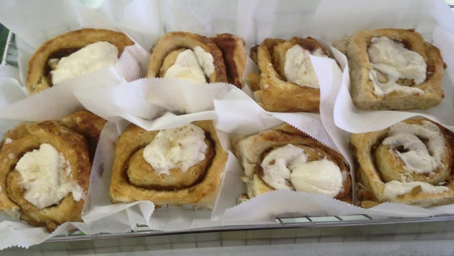 More of the scratch-made cinnamon rolls from Mom's on Fort Myers Beach.