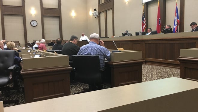 The County Commission met Monday for nearly 3 1/2 hours.