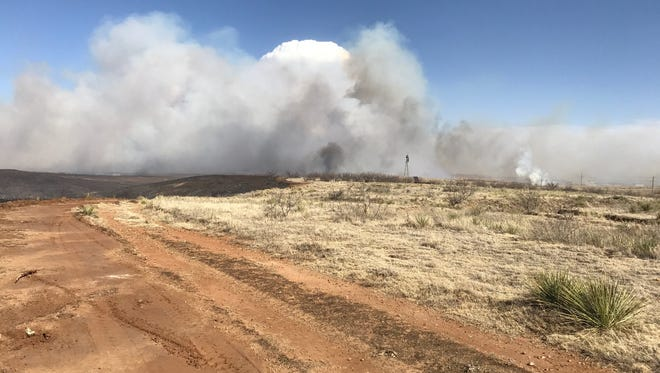 The Dumas Complex Fire was one of three large fires in the Texas Panhandle.