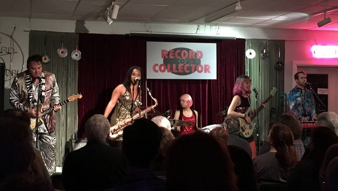 The Red Elvises perform at the performance space created in The Record Collector in Bordentown
