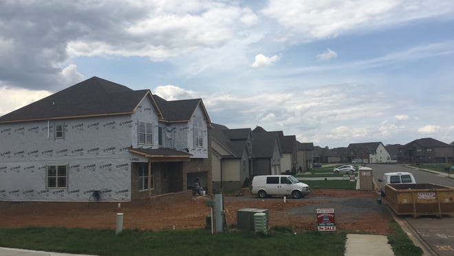 Residential construction off Rossview Road
