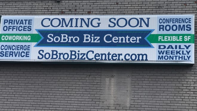 of SoBro at 515 4th Ave S (former Nashville Carpet Center) called the  SoBro Biz Center is expected to open by early June at the former former Nashville Carpet Center showroom at 515 Fourth  Ave. S.