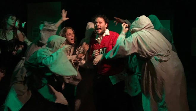 """Andrew Mertz as Ralph in The Alley Theater's musical adaptation of """"Reefer Madness."""" Photo by Katy Jones"""