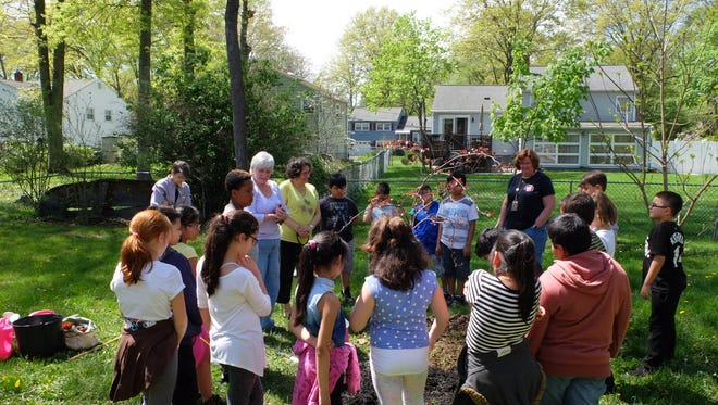 On Friday, April 28, Bound Brook celebrated Arbor Day at Smalley School with Ms. Banks' fourth-grade class, followed by a tree seedling giveaway the next day at Codrington Park.