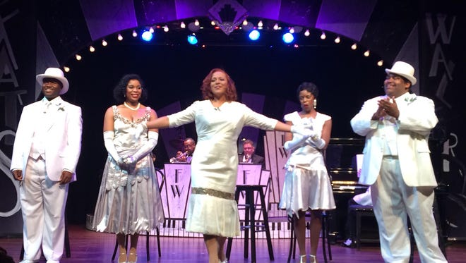 "Erica Fox of Lafayette, center, takes a bow on stage at ""Ain't Misbehavin'"" at the National WWII Museum in New Orleans."