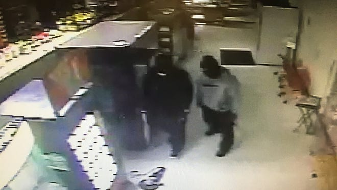 Burglary suspects caught on surveillance footage at Weis Markets in Cumberland Township on June 4.