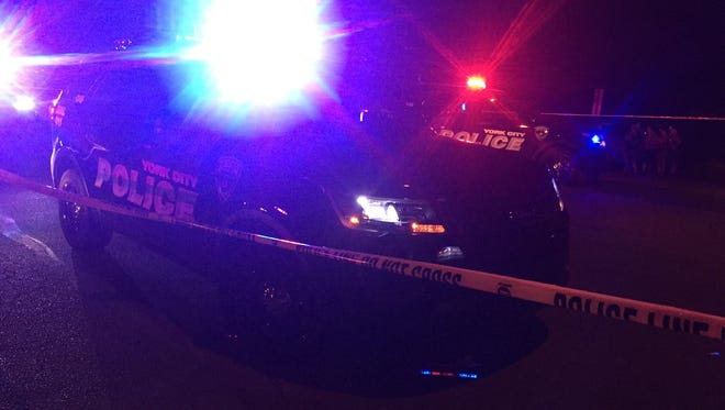 Police responded to the scene of a reported shooting in York Monday night.