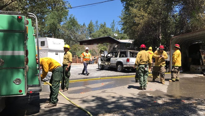 A fire on Fawndale Road was quickly extinguished by firefighters Saturday.