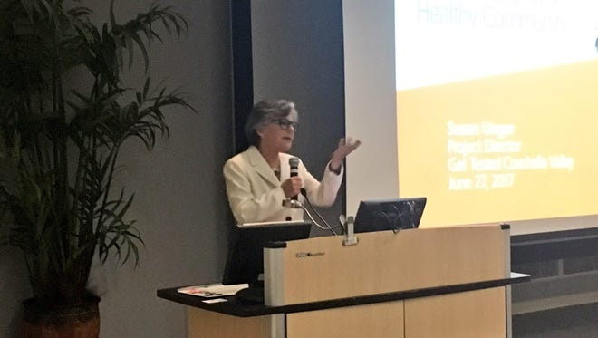Former U.S. Senator Barbara Boxer speaks at the Get Tested Coachella Valley three-year campaign event on June 27, 2017.