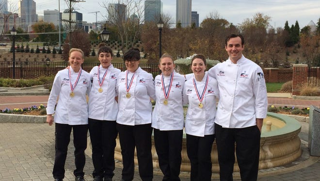 A-B Tech Community College's Student Culinary Team members are, from left, Emma Wieber, Jessica Olin, Habiba Smallen, Nina Patterson, Emily Welch and Max Theofrastous.