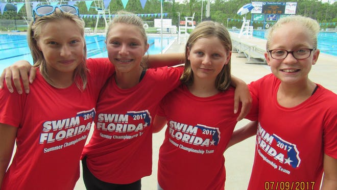 Swim Cape Coral's Natalie Handzlik, Anna Kokosinski, Melana Greene, and Maddie Lehman have qualified for the Florida Age Group Championships – formerly the Junior Olympics.