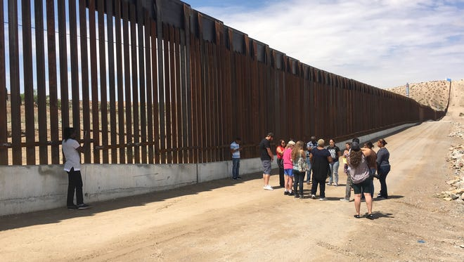 Faith leader from across the country visit the border fence in Sunland Park on Aug. 1, 2017.