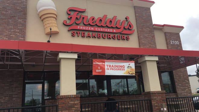 Freddy's says it's opening Tuesday at 2100 Wilma Rudolph Blvd.