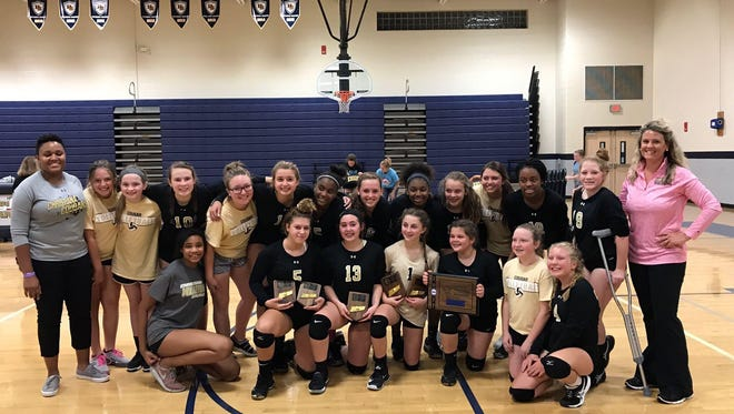 The Christiana Middle School volleyball team recently won the county championship, defeating Siegel in the finals.