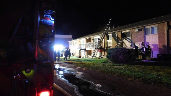 A man was killed in an apartment fire Saturday, Oct. 21, 2017.