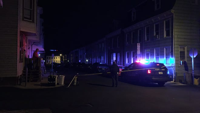 York City Police responded to a shooting in the 200 block of Park Place Wednesday night.
