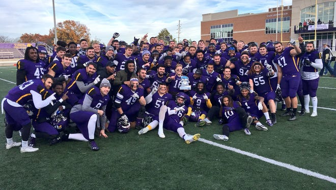 Lee Owens' Ashland University Eagles celebrate winning the Great Lakes Intercollegiate Athletic Conference and carry a 10-game winning streak into Saturday's home playoff game