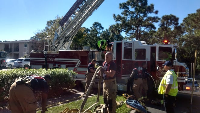 St. Lucie Fire District crews extinguished a kitchen fire at an apartment on Pinewood Trail Nov. 19, 2017.