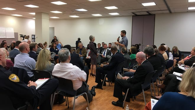 At an opioid epidemic forumheld Monday night at the LeRoy Collins Public Library, dozens voiced concerns and brainstormed solutions to the problem.