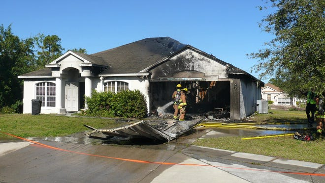 A house at 233 SW Becker Road in Port St. Lucie is destroyed by fire Dec. 31, 2017.