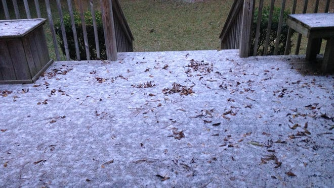 This photo of columnist Mark Hinson's back deck in Betton Hills was snapped at 8:05 a.m. on Wednesday. The horror, the horror.
