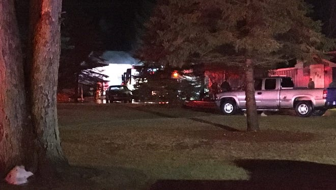 Port Huron Township firefighters responded to a fire at a home in the 4400 block of Atkins Road Monday night.