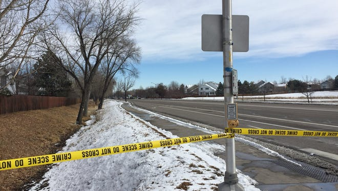 Harmony Road is closed between Shields Street and College Avenue for a serious crash investigation on Sunday, Feb. 11, 2018. Three people were hospitalized after the crash.