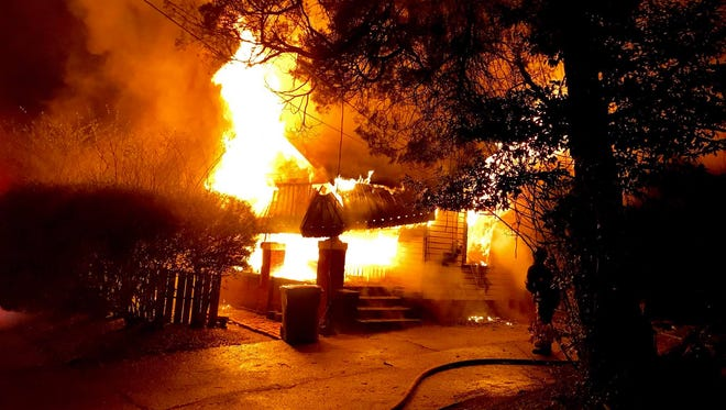 A South Holt Street home caught fire early Monday morning.