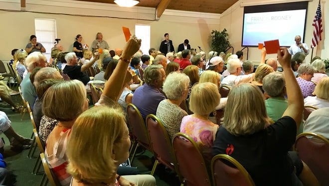 Florida congressman Francis Rooney hosted a town hall meeting on Marco Island on Thursday, Feb. 22, 2018.