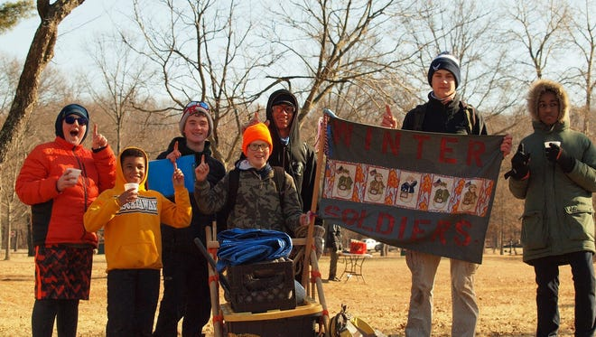 The Winter Soldiers patrol of Troop 67 in Piscataway won the Junior division of the 2018 Klondike Derby.